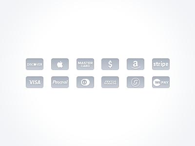 Free Gray Credit Card Icons