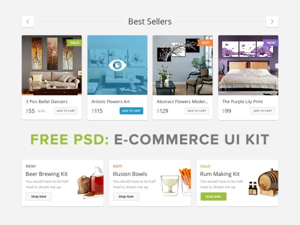 Lucky Store UI Free by PixelBuddha
