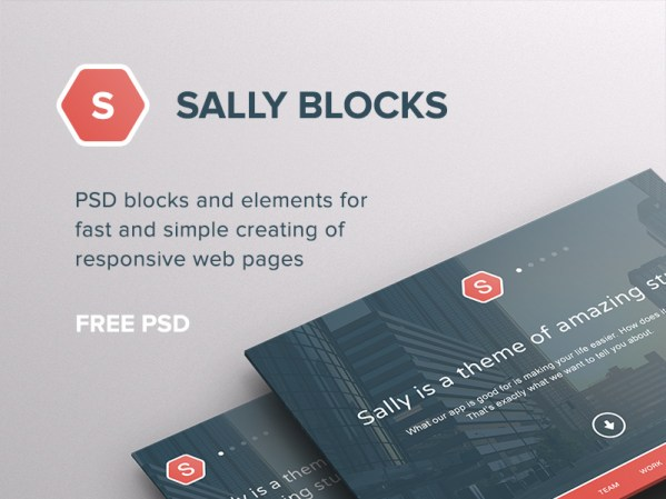 Sally Blocks UI by PixelBuddha
