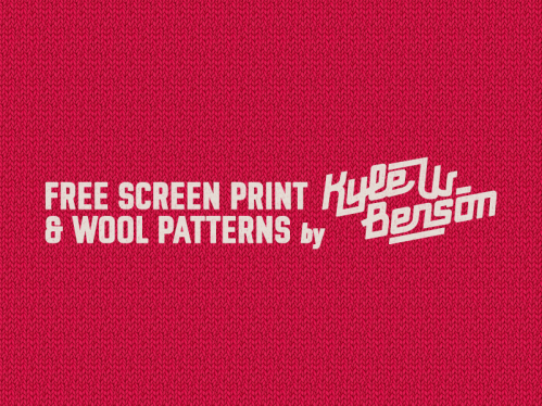 Screen Print & Wool Patterns by Kyle Wayne Benson