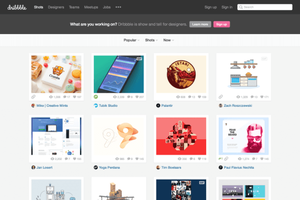 Dribbble - Show and tell for designers (20150729)