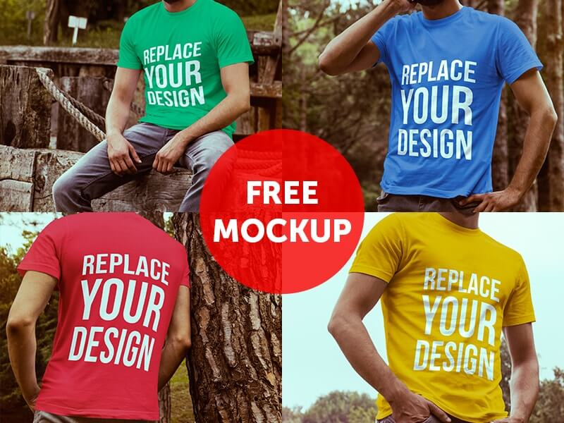 Download Free T Shirt Mockup Templates Yellowimages