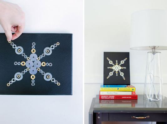 Hex Nut Wall Art- from Design for Mankind