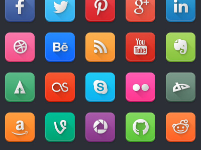 Modern Social Media Icons by Mike Van Hemelrijck
