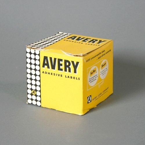 Vintage Avery Adhesive Labels Packaging