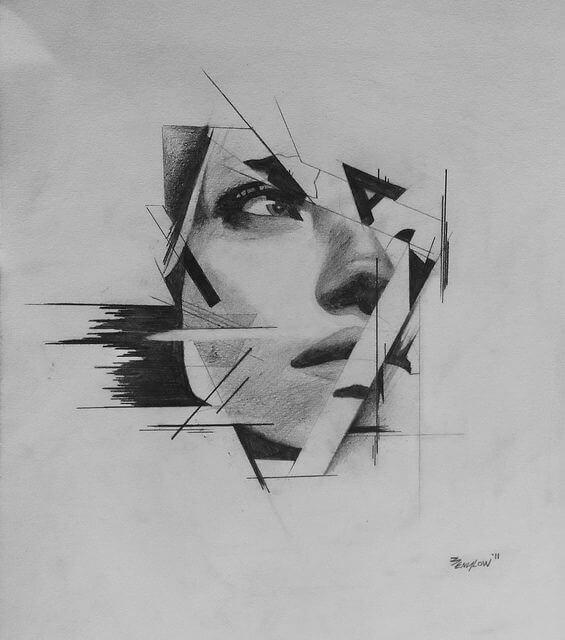 Imogen (abstract) Sketch