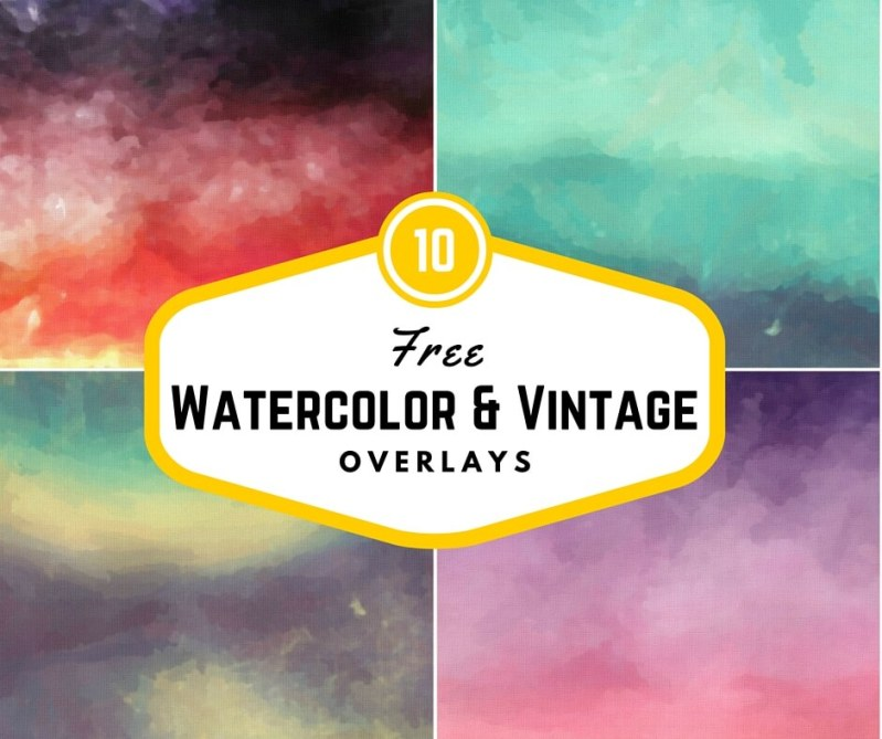 10 Free Watercolor and Vintage Overlays