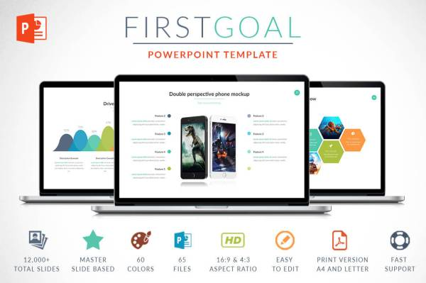 First Goal Powerpoint Template