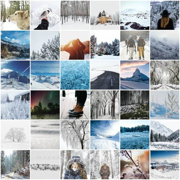 Winter Photo Pack Preview Grid