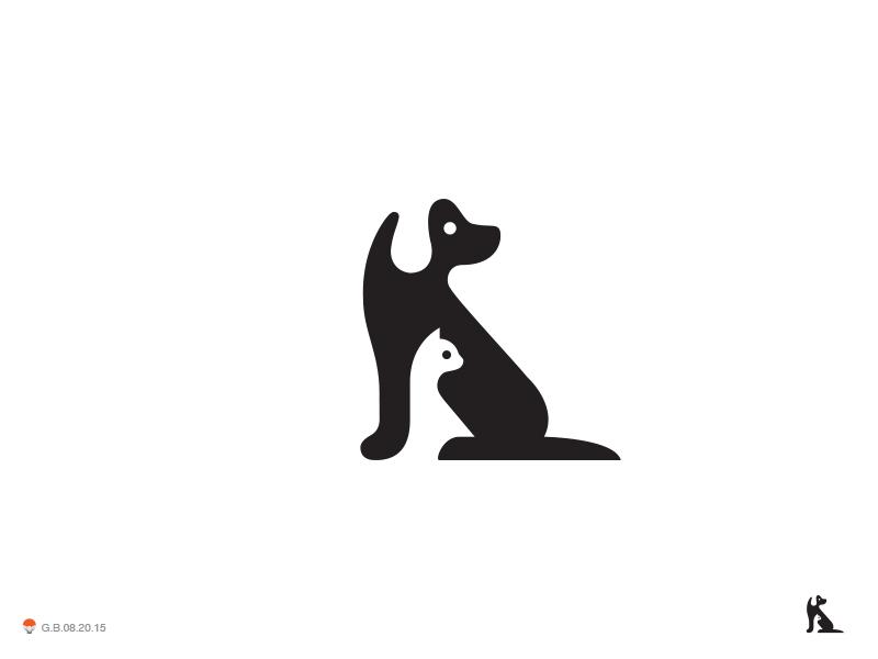 Neg Dog Cat by George Bokhua