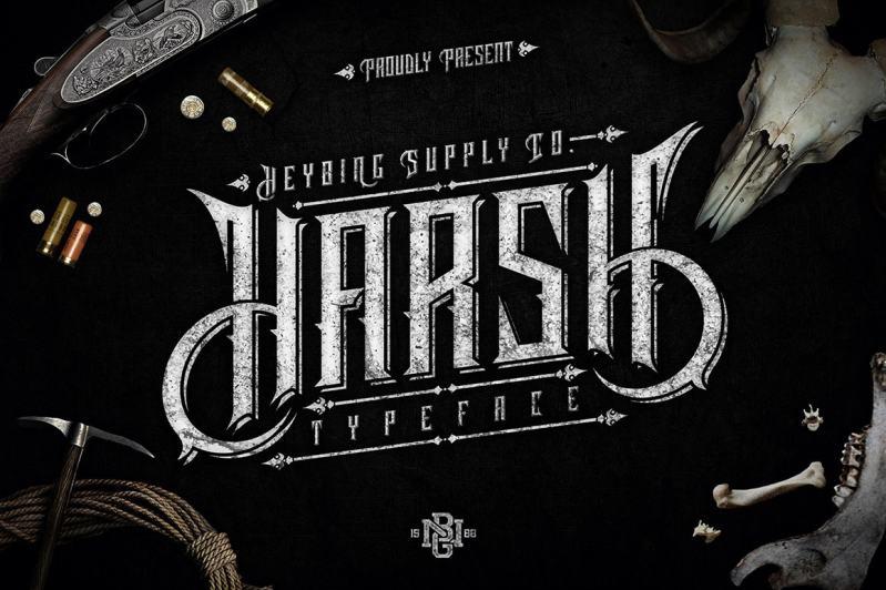 Harsh Typeface-min