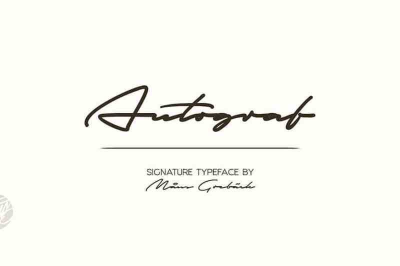 Autograf - Script Like Save Autograf - Script - 1 Autograf - Script - 2 Autograf - Script - 3 High quality signature typeface with big and round capital letters.
