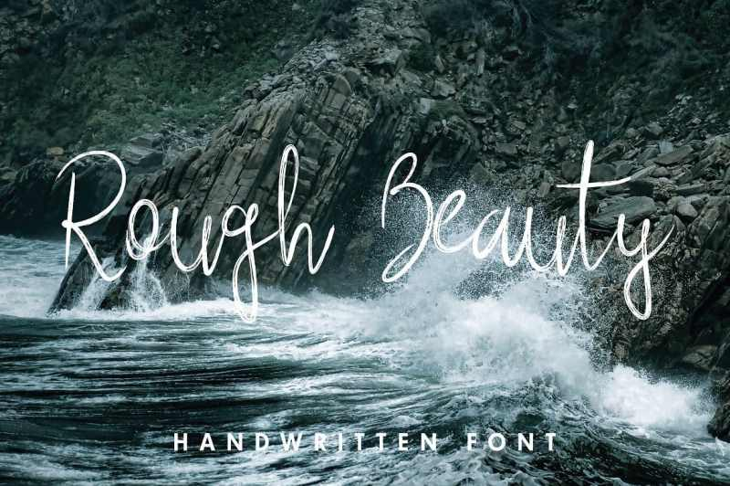 Rough Beauty Script - Script Like Save Rough Beauty Script - Script - 1 Rough Beauty Script - Script - 2 Rough Beauty Script - Script - 3 Rough Beauty Script - Script - 4 Rough Beauty Script - Script - 5 Rough Beauty Script with alternate lowercase letters gives a personalized feeling to your work.