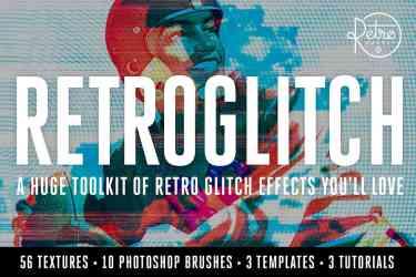 RetroGlitch Photoshop Bundle Download
