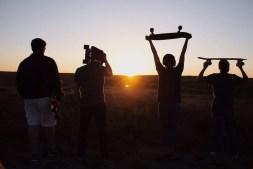 4 Skateboarder Friends Walking into the Sunset.jpg