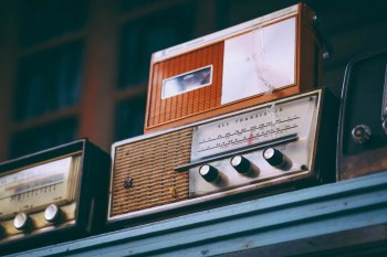 Vintage Radios inside an Antique Store