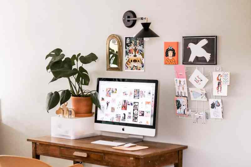 iMac Desktop Workspace inside a clean home