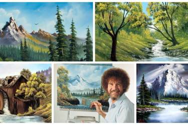 Bob Ross Collage