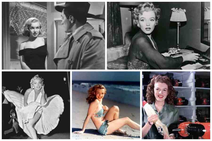 marilyn monroe life collage