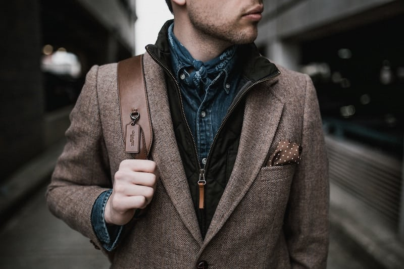 Confident young man well dressed