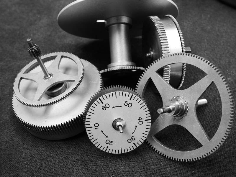 Machine Gears of a watch