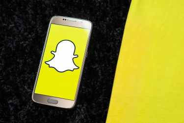 Snapchat mobile app on an android device