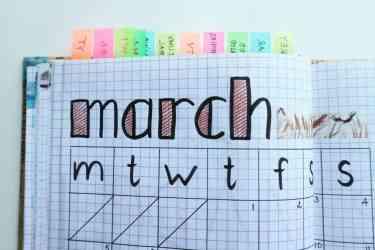 Monthly Schedule Plan
