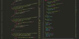 code on desktop screen