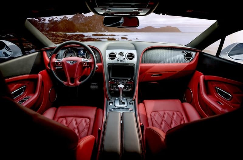red bentley interior