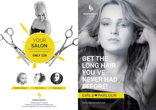 Beauty-Parlour-A3-Bifold-Brochure-Template-Front