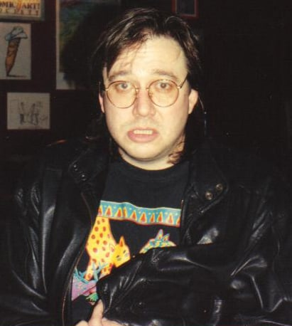 Comedian Bill Hicks at the Laff Stop in Austin, Texas