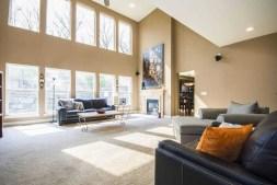 modern living room inside a mansion