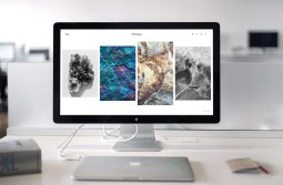 Beautiful minimal website on an imac screen