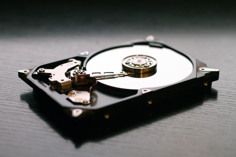 hard drive disk close up
