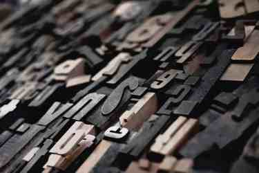 Close up photo of typography letters