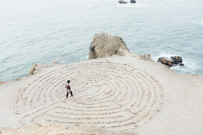 Creative Rock Formation Near the Beach