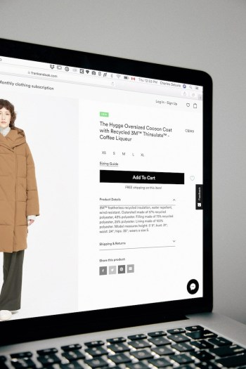 Ecommerce website checkout page