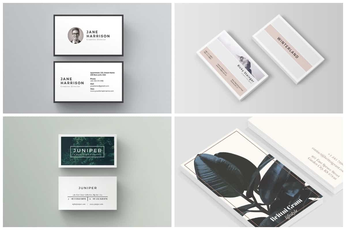 50 Minimal Business Cards That Prove Simplicity Is Beautiful Inspirationfeed