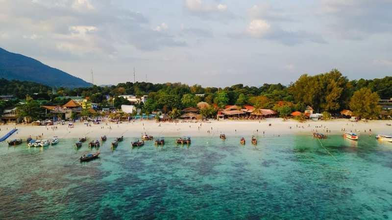 aerial beach view in thailand
