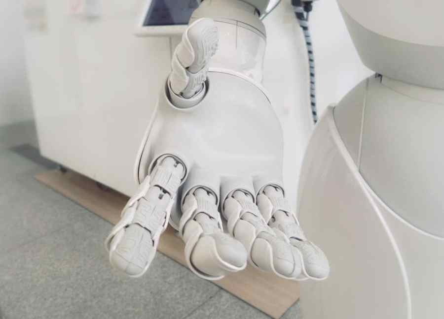 artificial robot giving your a hand