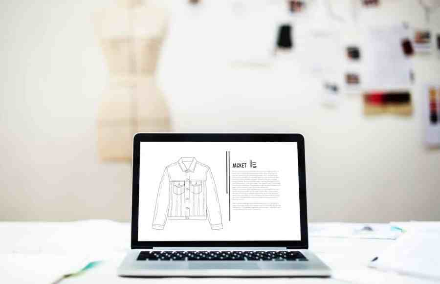 Magento Ecommerce Store on a Laptop Screen