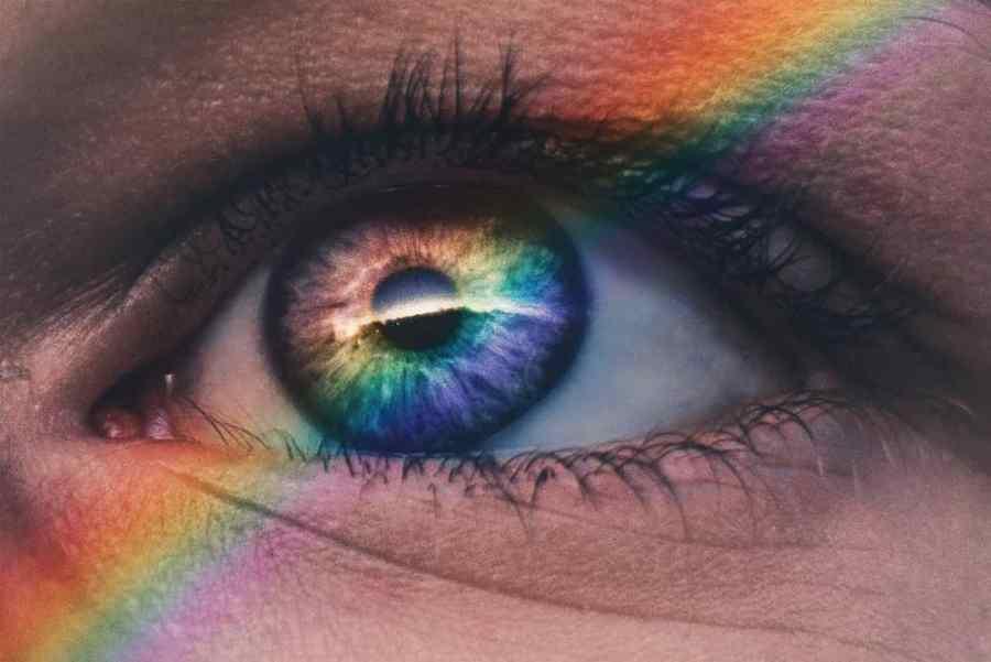 Rainbow on a Human Eye