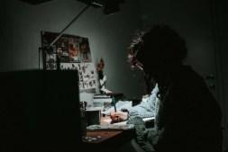 Student Doing Homework in Her Room