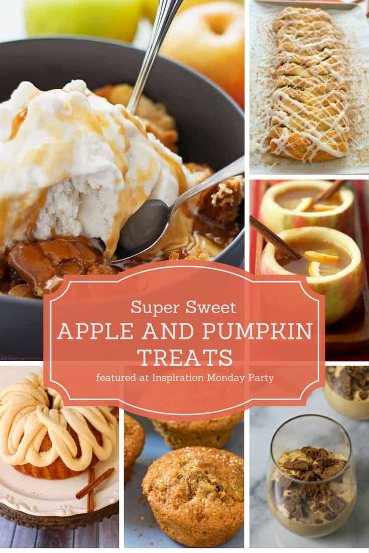 Super Sweet Apple and Pumpkin Treats featured at Inspiration Monday Party