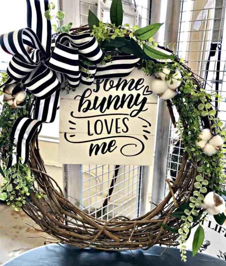spring cotton boll wreath