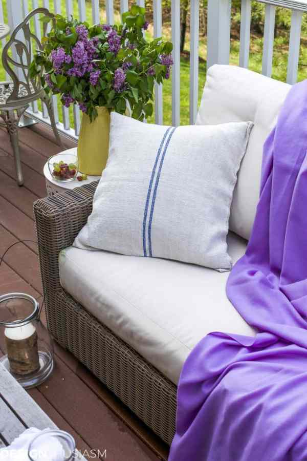patio refresh with spring decor
