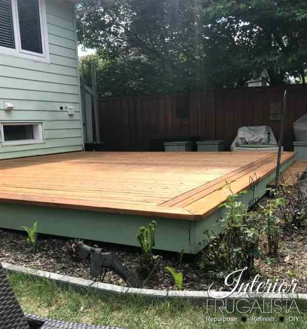 Budget friendly deck restore