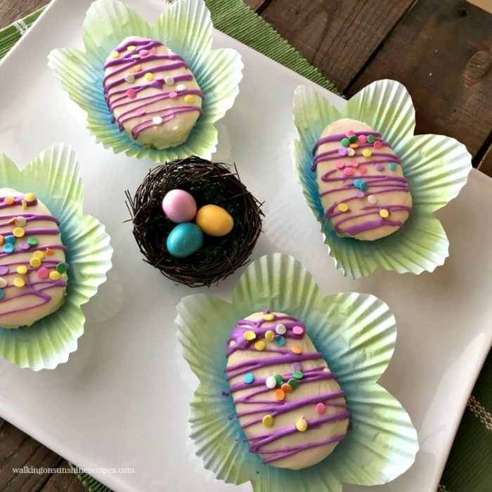 mini Easter egg cakes