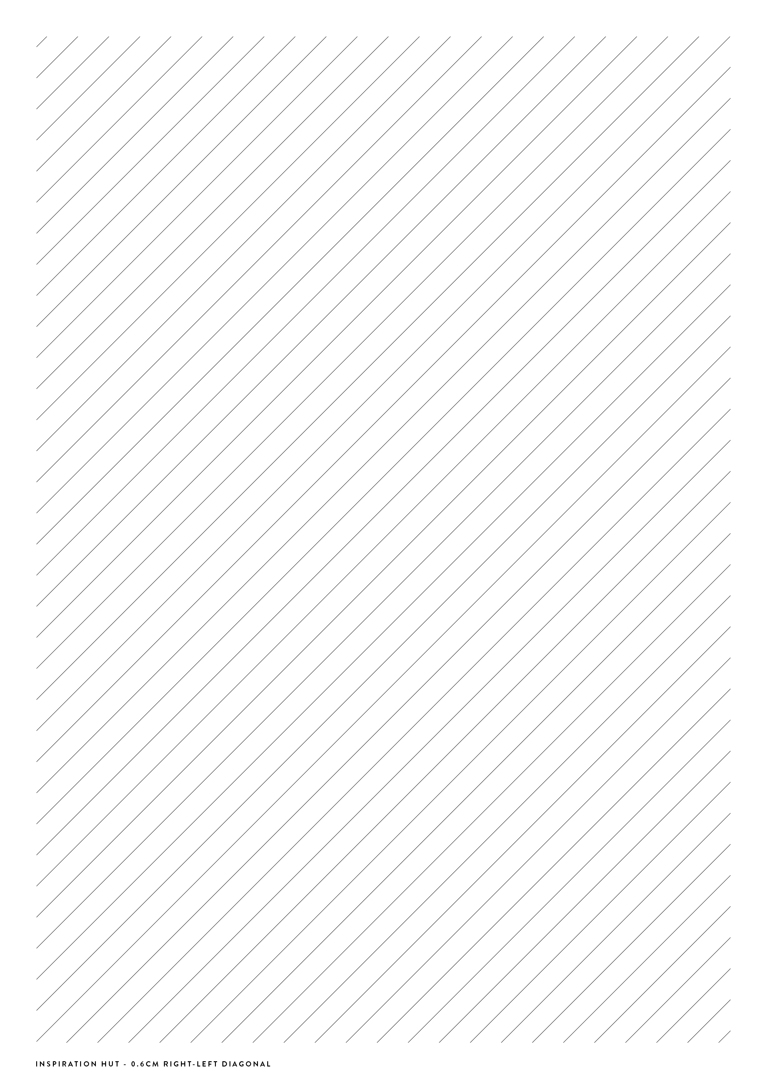 Diagonal Lined Paper Template