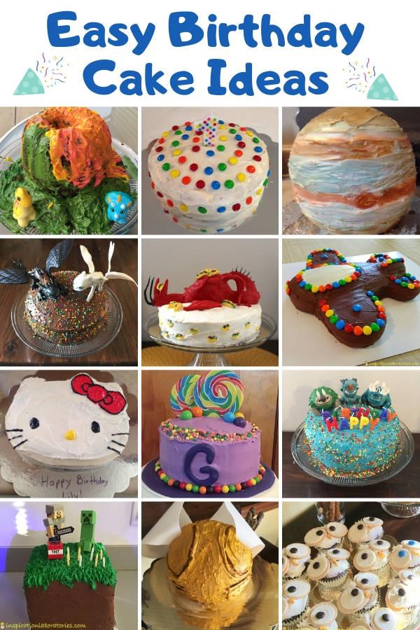 Easy Kid S Birthday Cake Ideas Inspiration Laboratories